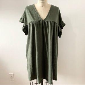 ASOS Maternity Green 100% Cotton Dress Size 16